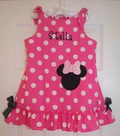 Minnie Mouse Tie Jumper by sewsosweetboutique on Etsy, $48.00
