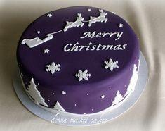 Sleigh Christmas Cake - Bakers and Artists Christmas Cookies Kids, Christmas Cake Designs, Christmas Cake Decorations, Christmas Cupcakes, Christmas Sweets, Holiday Cakes, Christmas Cooking, Christmas Kitchen, Christmas Tables