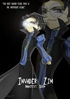 dib from invader zim anime style