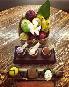 Meeting guests are welcomed to their rooms with local fruits and Balinese sweets at The Ritz-Carlton, Bali.