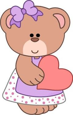 Free bear clipart from www.cutecolors.com: