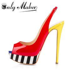 Cheap Onlymaker High Heel Peep Toe Sandali Sexy Del Leopardo delle Donne  Pompa I Pattini 2.5 966404fb9b6e