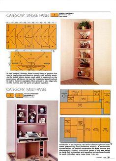 Corner shelf (PDF) plans