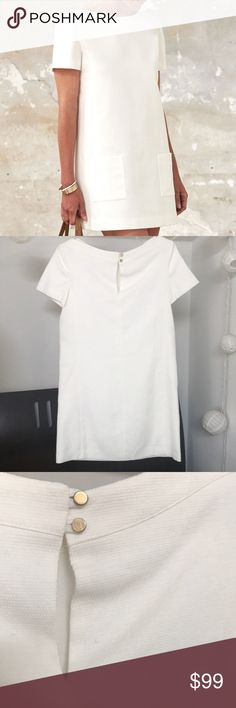 Sezane Tosca Dress Sezane Tosca Dress Size: 34 Color: Ecru Length: in Condition: Excellent, worn only once Sezane Dresses Mini Fashion Tips, Fashion Design, Fashion Trends, Underarm, Tunic, Mens Tops, Outfits, Collection, Things To Sell