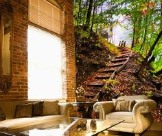 Full Wall Forest Mural   Google Search