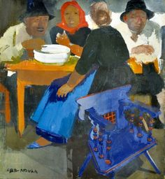 Aba-Novák, Vilmos (1894-1941) Peasants (Lunch at the market)