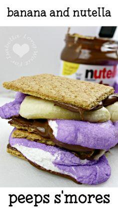 Banana Nutella Peeps Smores