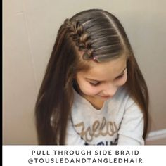 Hair tutorial You are in the right place about cute baby girl hairstyles Here we offer you the most Side Braid Hairstyles, Baby Girl Hairstyles, Braided Hairstyles Tutorials, Hairdos, Cute Little Girl Hairstyles, Simple Girls Hairstyles, School Picture Hairstyles, Childrens Hairstyles, Princess Hairstyles