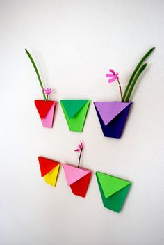 Origami wall decoration