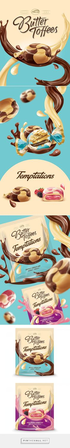 Arcor Butter Toffees on Behance (Butter Packaging) Design Poster, Ad Design, Label Design, Layout Design, Packaging Design, Branding Design, Graphic Design, Food Advertising, Creative Advertising
