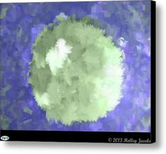 Moonlite Blue Canvas Print / Canvas Art By Holley Jacobs