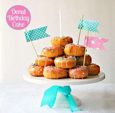 Donut birthday cake!
