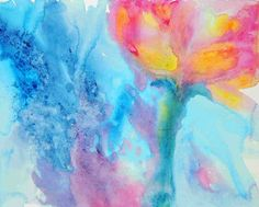 semi abstract flower / acrylic painting by Isabelle Garnier