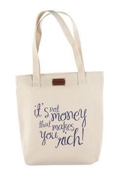 "Jutebeutel ""It's not money..."" // tote bag by Lotte Voss via DaWanda.com"