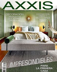 Happy to have our bright silver weaves in the cover of @revistaaxxis !!!  Thank you @elbuenojo for this amazing publication. #VerdiSpaces