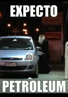 one time i saw dumbledor at a gas station....