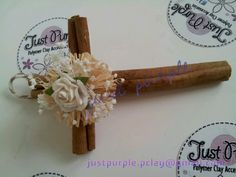 Cross with cinnamon stick