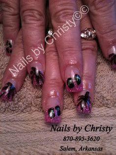 Nail Art  Summer flip flops