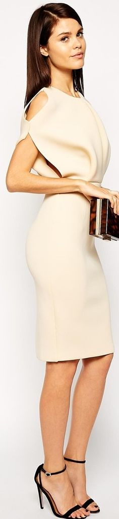 ASOS - sophisticated, svelte dress that can easily go from day to night. You can find ASOS online.