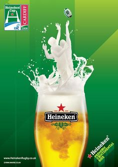 Heineken Cardiff Rugby Cup Beer Advertising Campaign