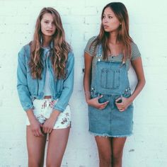 Brandy Melville denim overalls Adjustable straps. Two side pockets, 3 buttons on each side. Skirt in the bottom, frayed hem. Also have the shorts in the picture for sale! Brandy Melville Jeans Overalls