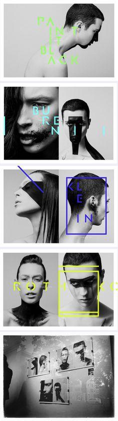 Paint it Black - edito beauté - Beauty editorial - artist make up maquillage graphic design graphisme trace black paint face visage peinture -http://www.aucoindelarue.ca