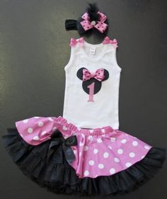 Couture Minnie Mouse Petti Skirt CollectionAvailable in Pink or Red!12 Months to 12 Years