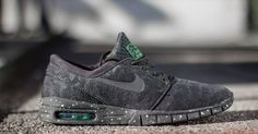 Nike Skateboarding presents yet another colorway of the Nike SB Stefan Janoski Max, this time in Pine Green.