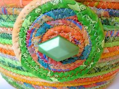 Clothesline Rope Basket Hand Coiled OOAK by SallyManke on Etsy