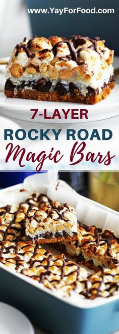 Rocky Road Magic Bars | Posted By: DebbieNet.com