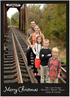 family pic on a train track!