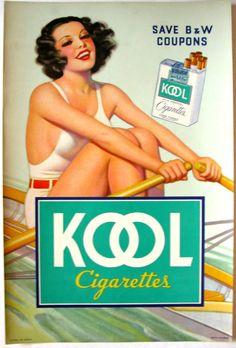 Vintage advertisement for Kool Cigarettes, 1933