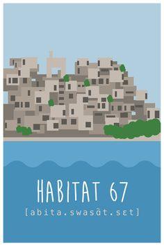 Montréal Habitat 67 par BonbonVisuel sur Etsy, $15.00