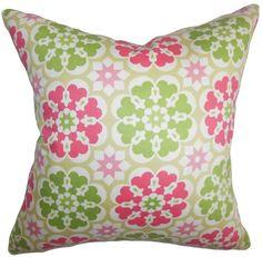 Eavan Floral Cotton Throw Pillow