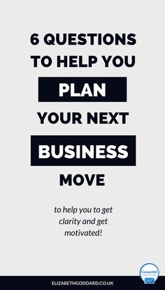 Wondering what to do next in your online business? Here are 6 questions that will help you get clarity in your business plan so you get motivated to grow your business. Entrepreneur mindset, mindset tips, business clarity, marketing strategy, marketing plan, social media plan, course launch, start a blog, start a business, content plan.