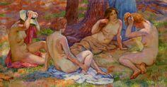 Théo van Rysselberghe - Quatre baigneuses