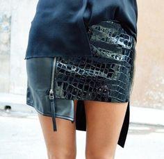 #skirt #leather #miniskirt