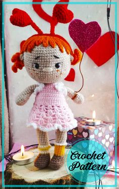 Very Cute Baby, Cute Baby Girl, Crochet Patterns Amigurumi, Amigurumi Doll, Free Crochet, Crochet Hats, Girls With Red Hair, Baby Girl Dolls, Bobble Stitch
