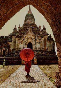 Los 10.000 templos de Bagan en la región de Mandalay de Myanmar.