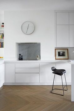 Harwood Floors For Small White Kitchen