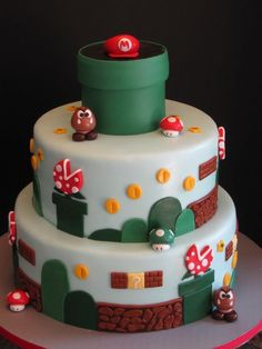 images+for+super+smash+brothers+cakes   super mario brothers birthday cake this super mario brothers cake was ...