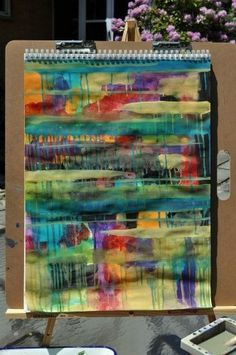 Love this idea of intuitive painting to create the base for multiple other projects. A must try.