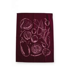 Farmer's Market Tea Towel from Belle & Union Co. Add a bit of organic flair to your kitchen with this farmers market tea towel with all of the vegetables of the season.