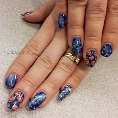 Spongeless Galaxy nails