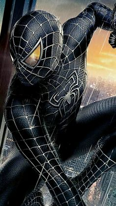 One of the most famous character from marvel series spiderman's dark wallpaper. The Dark Spiderman Photo Collection By WaoFam. Black Spiderman, Amazing Spiderman, Spiderman Art, Marvel Avengers, Iron Man Avengers, Marvel Art, Marvel Heroes, Captain Marvel, Marvel Comics