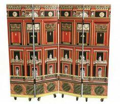 4 panel 'Pompeiana' screen by Piero Fornasetti Milan Furniture, Fine Furniture, Furniture Redo, Jones Company, Piero Fornasetti, Decorative Items, Folding Screens, Dividers, Decoupage