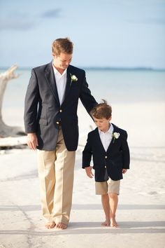 Love this look for beach grooms page boy- so cute. Would love if it was a pale light blue pin stripe blazer!