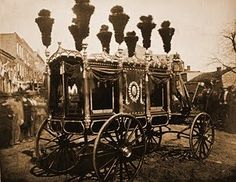 *THE HEARSE CARRYING ABRAHAM LINCOLN                                                                                                                                                                                 More