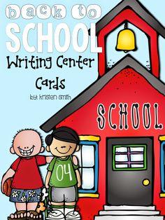 Back to School Word Work Writing Cards | Freebie {Kristen Smith}