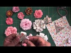 Paper flowers - YouTube